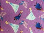 FROZEN BLUE ELSA ANNA SISTERS FOREVER - Fabric 100% Cotton - Price Per Metre